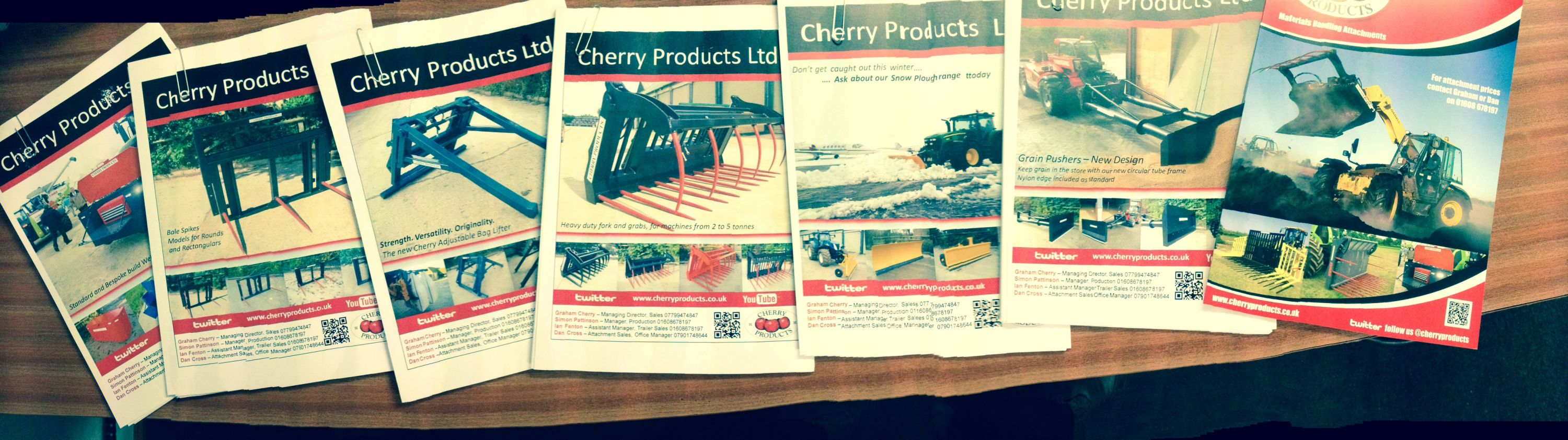 Cherry Sales support literature